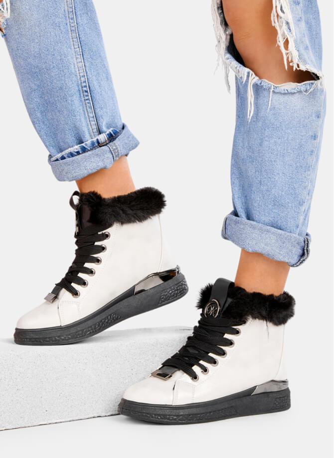 modne sneakersy białe