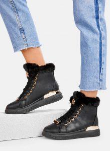 sneakersy czarne dla kobiet