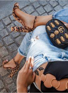 sandałki Leopard
